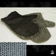 Padded Chainmail Mittens - High Tensile Steel - 8mm Butted - Code 10